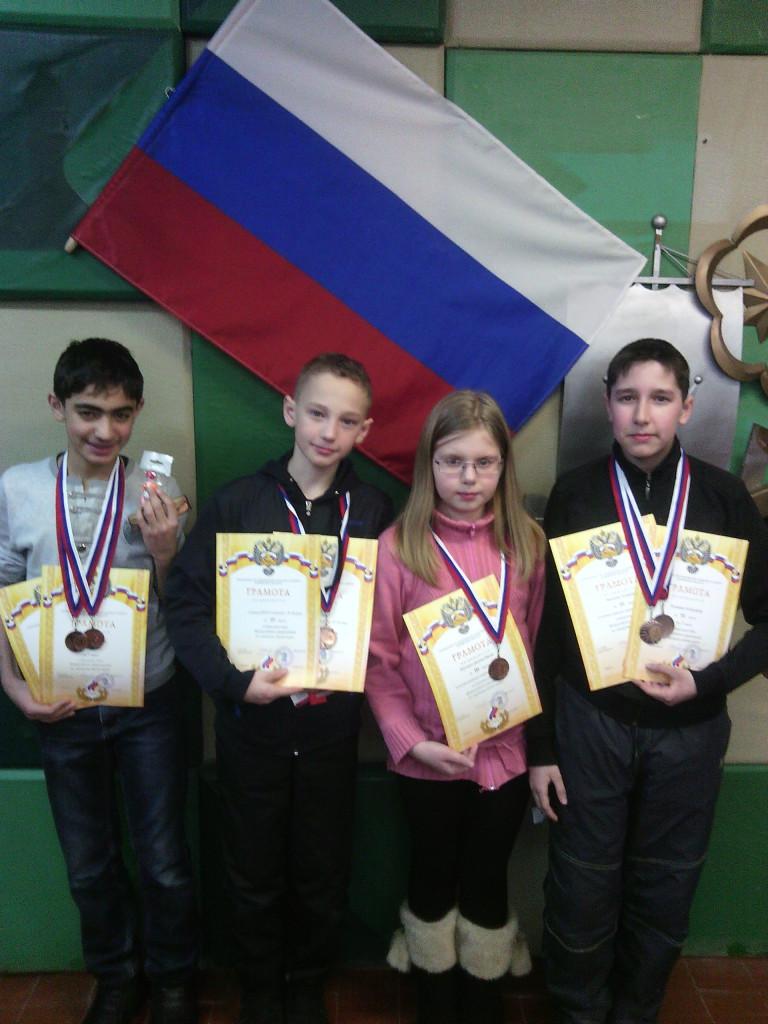 Бронзовые призеры -  Рафаэль, Сережа, Настя, Саша